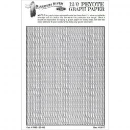 Bead Graph Paper- 12/0 Gourd (Peyote)