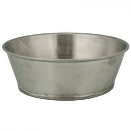 "Tin Soup Bowl - 6"" dia. x 2-1/4"" deep"