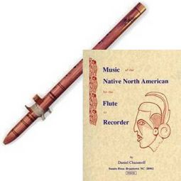 Engraved Cedar Indian Love Flute - Treble, with Flute Book