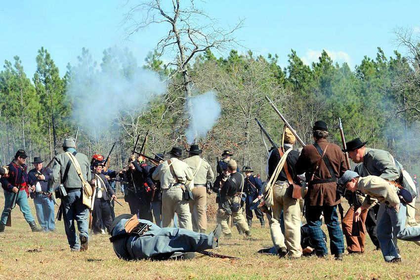 Battle of Aiken Reenactment - Crazy Crow Civil War Reenactment Calendar