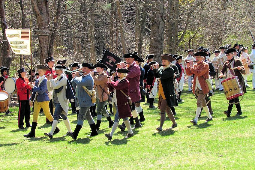 Lincoln Salute Concert of 18th Century Fife and Drum Music - Lincoln Minute Men - Fifes and Drums of the Lincoln Minute Men - Pierce Park