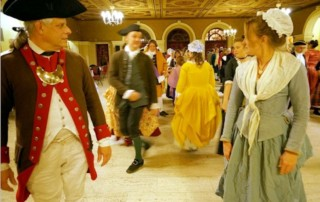 Colonial Ball at Historic Trenton Masonic Temple - Old Barracks Museum - Trenton's Patriots Week Celebration - Trenton Downtown Association - Old Barracks Association
