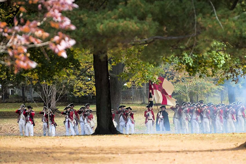 Assault on Fort Mercer Reenactment - Red Bank Battlefield Reenactment - Fort Mercer 18th-Century Field Day - Red Bank Battlefield Park