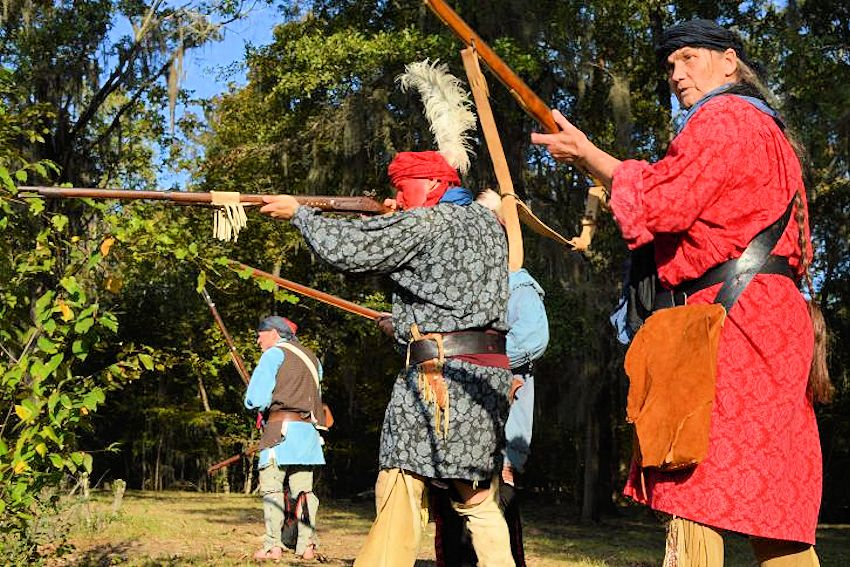 1st Seminole War Scott Massacre of 1817 Commemoration - River Landing Park - 7th US Infantry Living History Association - Chattahoochee Main Street