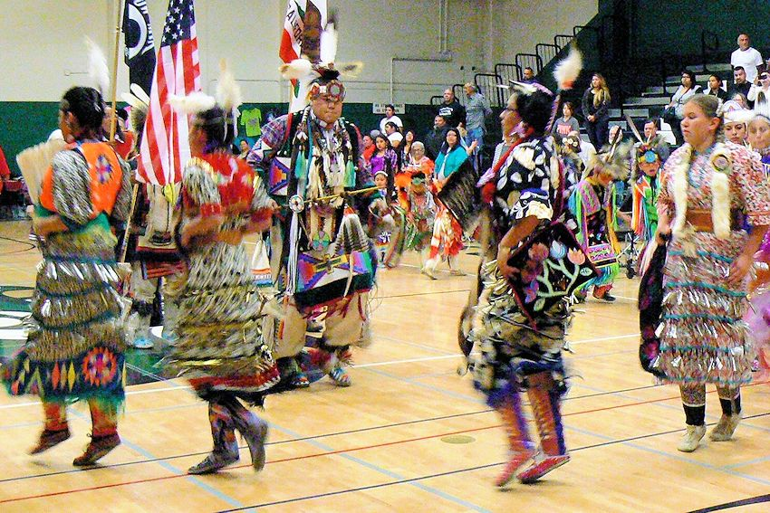 Gwen Steirer New Years Eve Powwow - Mt Pleasant Hight School - American Indian Alliance
