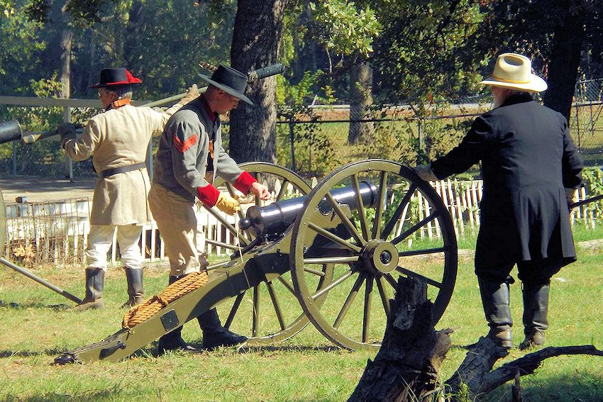 Grayson County Fall Civil War Days at Frontier Village - Civil War Days at Grayson County Frontier Village - Grayson County Frontier Village - Colonel George R Reeves 11th Texas Cavalry Camp 349 Reenactors - Elliotts Scouts Texas Company D Reenactors