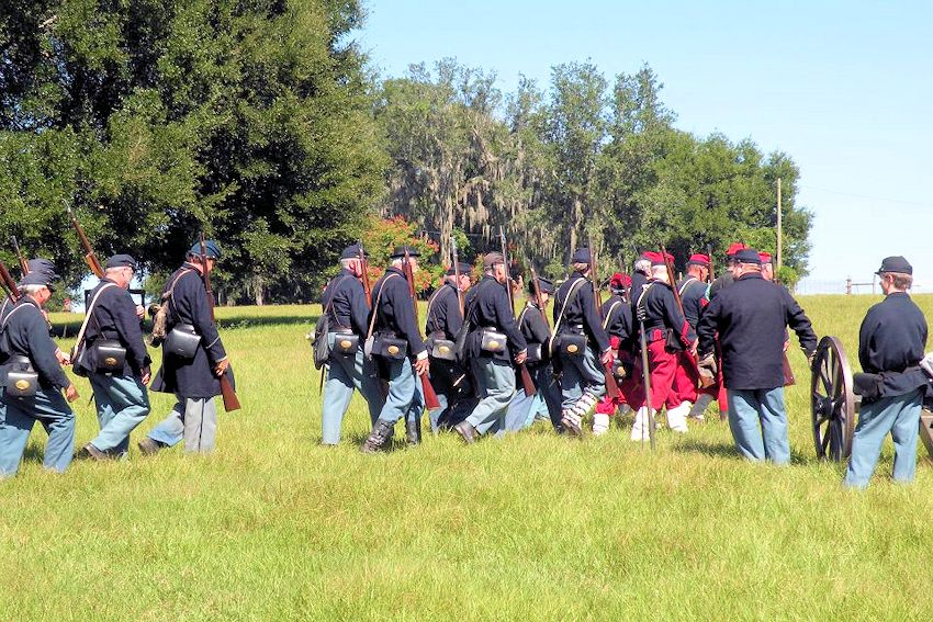 Battle of Dade City Civil War Reenactment - Pioneer Florida Museum and Village - Pioneer Florida Museum Association