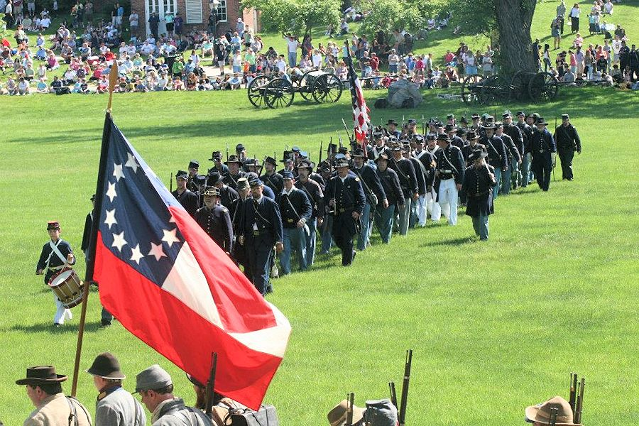 Greenfield Village Civil War Rememberance at The Henry Ford - 8th Arkansas - 22nd Michigan Civil War Reenactors