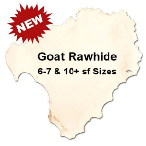 Goat Rawhide in 2 sizes - Crazy Crow Trading Post