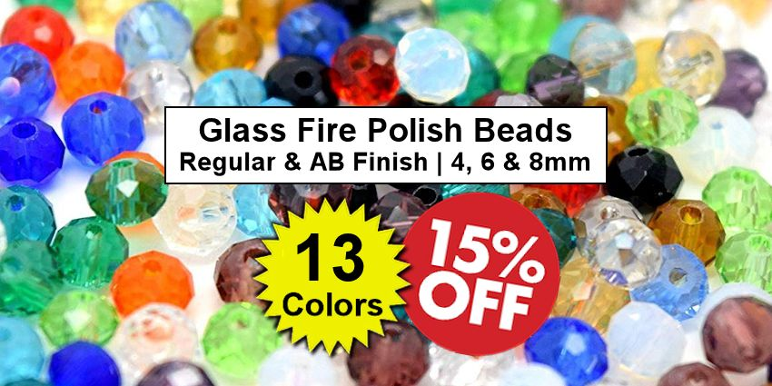 Glass Fire Polished Beads - Crazy Crow Trading Post Crow Calls Sale