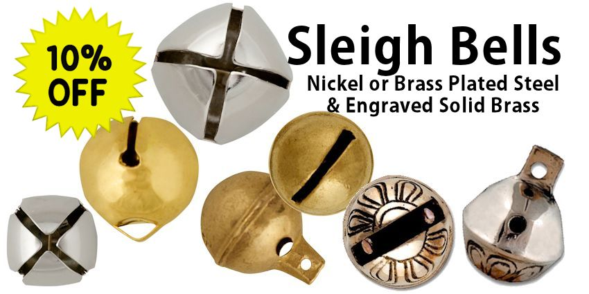 Nickel & Brass Sleigh Bells Sale