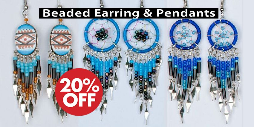 Beaded Earrings & Pendants Crow Calls Sale