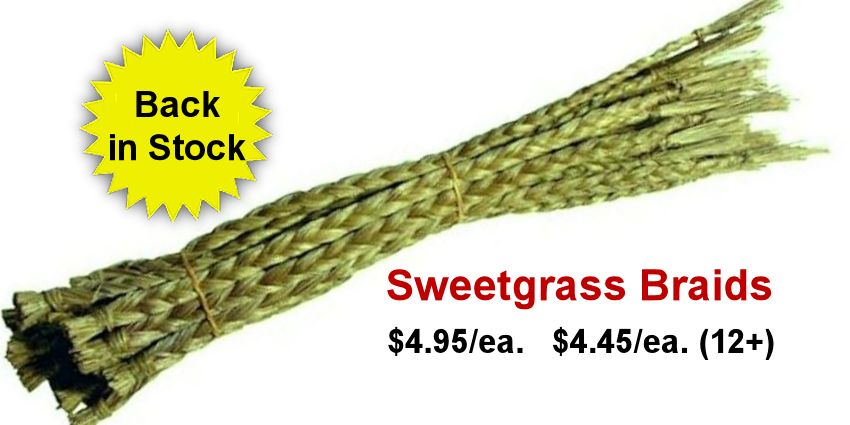 Sweetgrass Braids Back in Stock bac in stock.