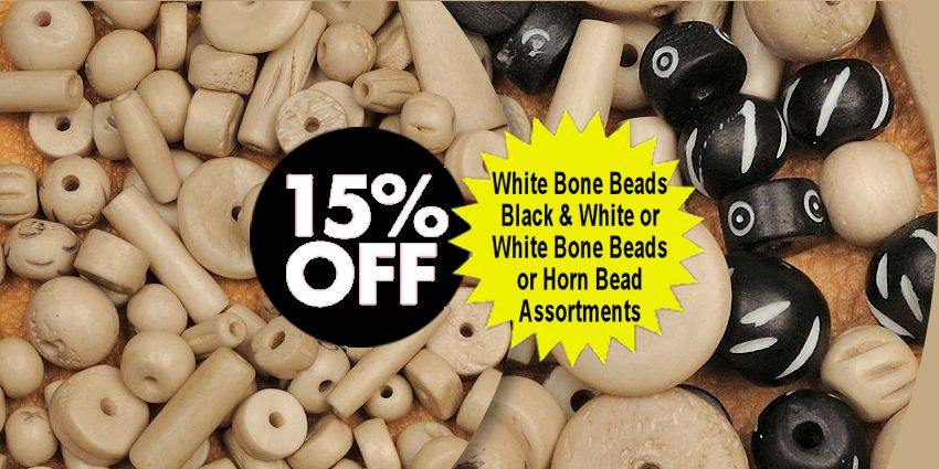 Carved Bone & Horn Bead Assortments Crow Calls Sale