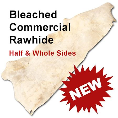 Bleached Commercial Rawhide - Half & Whold Sides