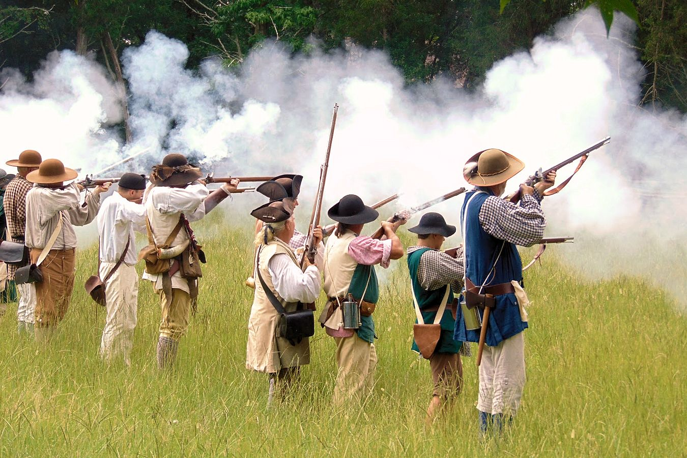 Battle of Hucks Defeat Reenactment - Historic Brattonsville - New Acquisition Militia