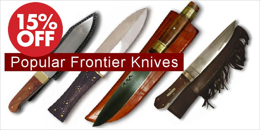 Select Mountain Man and Frontier Knives - SAVE 15%