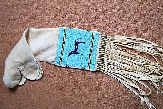 native american pipe bags