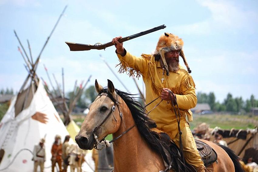 Green River Rendezvous & Pageant - Museum of the Mountain Man - Pinedale Wyoming Rendezvous