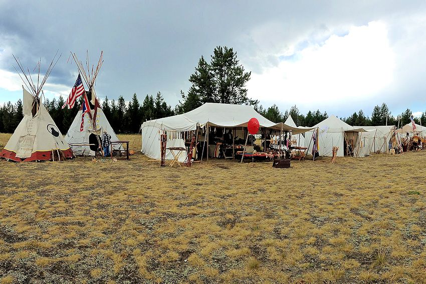 Smoking Waters Mountain Man Rendezvous - West Yellowstone Old Airport - West Yellowstone Mountain Man Association