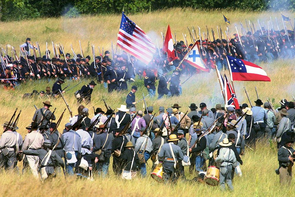 Gettysburg Civil War Battle Reenactment