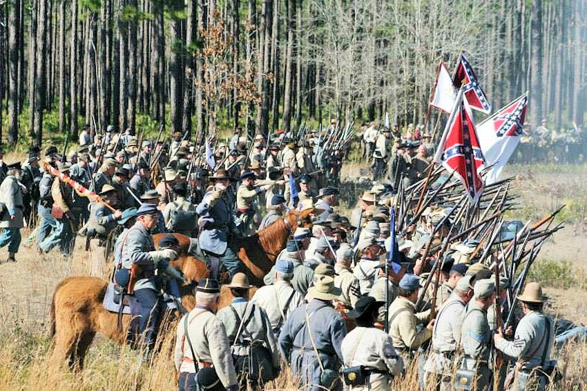 Olustee Battle Reenactment - Olustee Battlefield Historic State Park - 7th US Infantry Living History Association