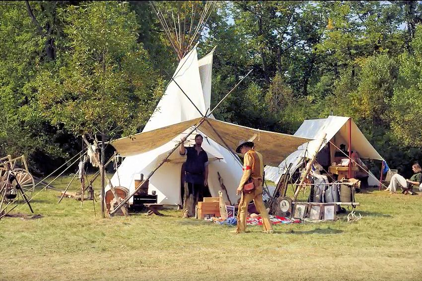 Baraboo River Rendezvous - Spirit Lake Mountain Men - Spirit Point