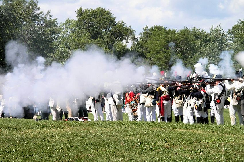 First Seige 1813 Fort Meigs War of 1812 Reenactment