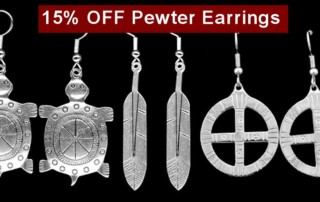 Pewter Earrings - Save 15% thru 12/31/16