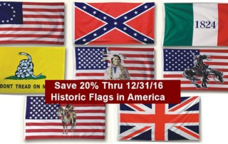 Historic Flags in America Sale - Save 20% thru 12/31/16 - Crazy Crow Trading Post Crow Calls Sale
