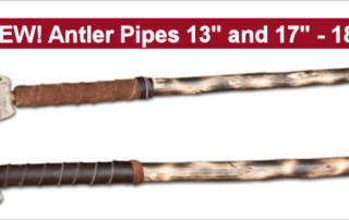Elk Antler Pipes - Personal Frontier Pipes - Wooden Stems - 2 Sizes