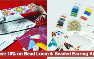 Beadwork Kits Sale, Save 10% on Bead Loom & Earring Kits thru 12/31/16