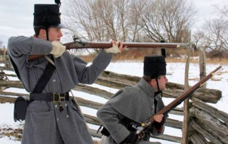Battle of Ogdensburg Reenactment - Forsyths Rifles Inc - Downtown Ogdensburg - Fort De La Peesentation