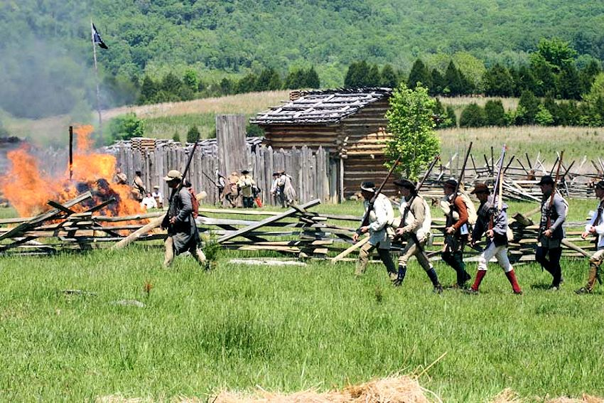 Raid at Martin's Station Reenactment - Martin's Station - Wilderness Road State Park - Friends of Wilderness Road