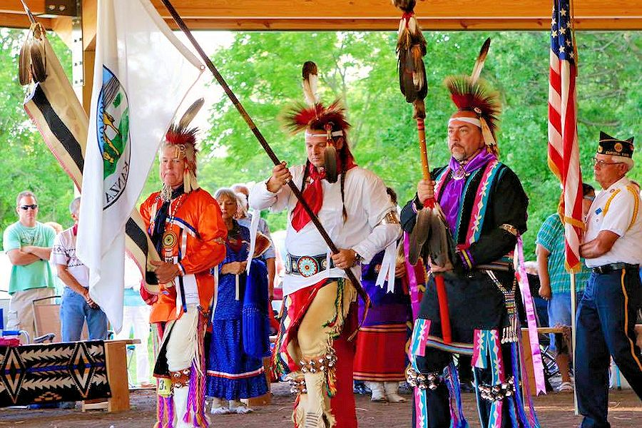 Kaw Nation Washunga Days Powwow - Dance Arbor at Allegawaha Park