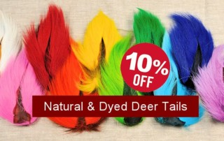 Natural & Dyed Deer Tails Sale - Crow Calls Sale Save 10% thru 4/30/17