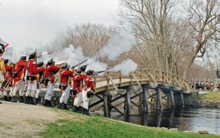 Patriots Day Battle on Lexington Green Reenactment - Lexington Battle Green - Lexington Minute Men