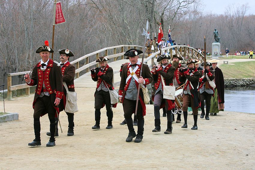 Bedford Minuteman Company - Bedford Liberty Pole Capping Parade and Ceremony - Meriams Corner Exercise
