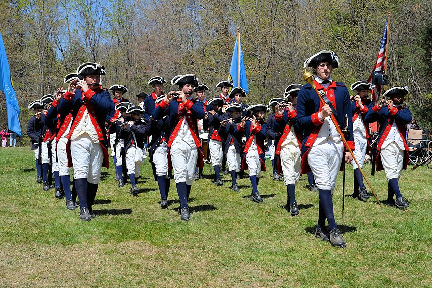 Lexington Tatoo and Muster - Minuteman National Historic Park Visitor Center - William Diamond Junior Fife and Drum Corps - Lexington Battle Green