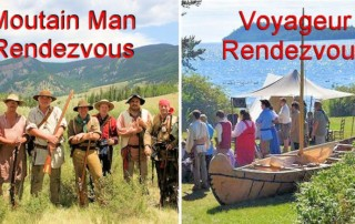 What is the Difference in a Mountain Man Rendezvous and Voyageur Rendezvous?
