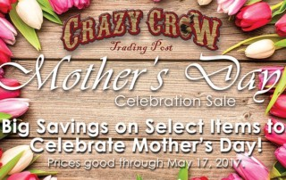 Crazy Crow's Mother's Day Celebration Coupon Specials - Ends 5/17/17