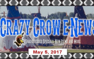 Crazy Crow eNews - Friday May 5, 2017