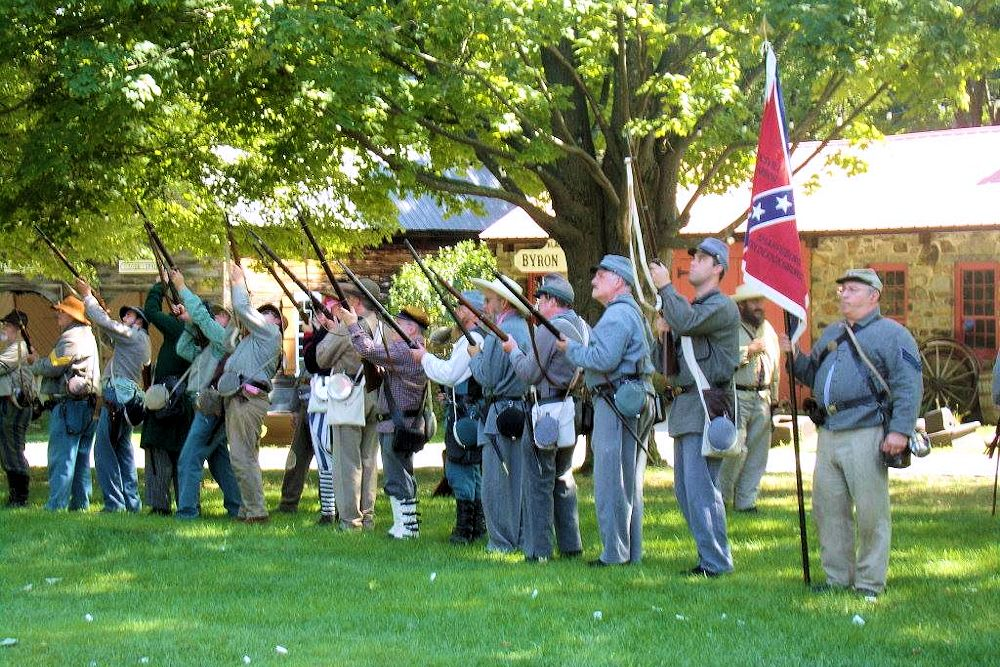 Monroe Museum Village Civil War Reenactment