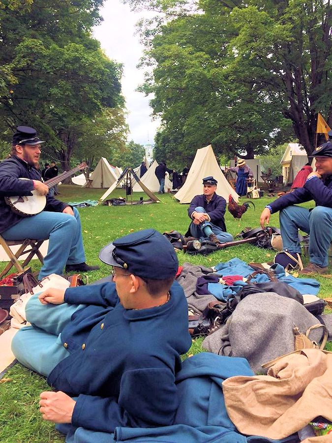 Monroe NY Museum Village Civil War Reenactment