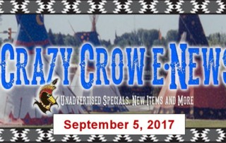 Crazy Crow E-News - Tuesday, September 5, 2017