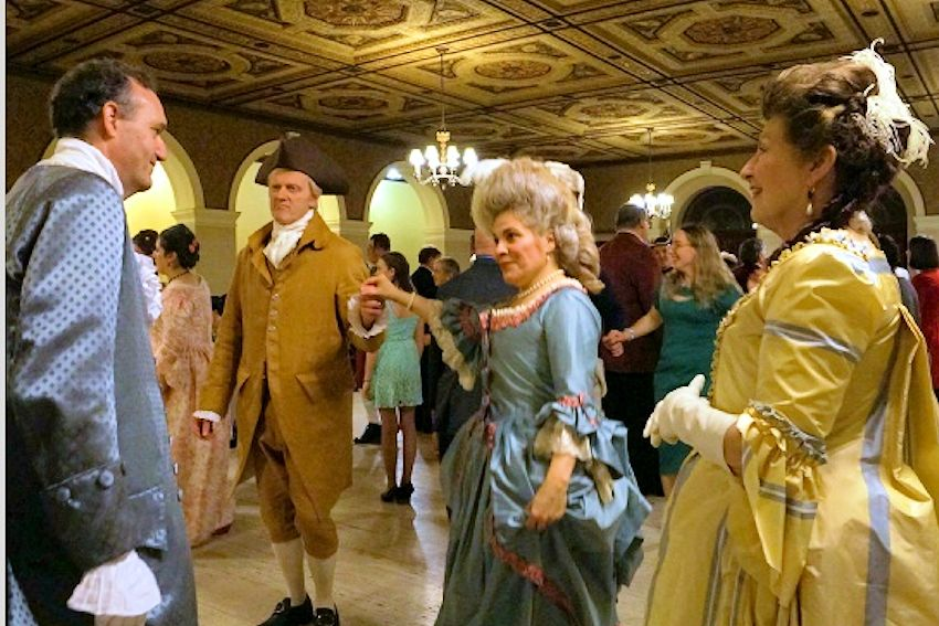 Colonial Ball at Trenton Masonic Temple