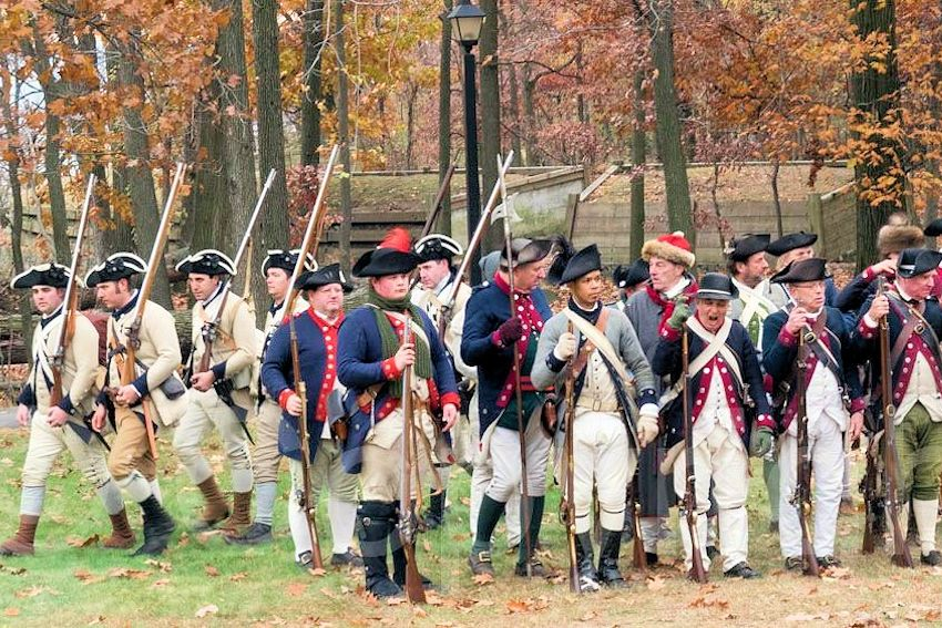 Retreat Weekend at Fort Lee Historic Park - Brigade of the American Revolution - Bergen County Historical Society - Reenactment of General Washington's Retreat to Victory - Fort Lee Historical Society