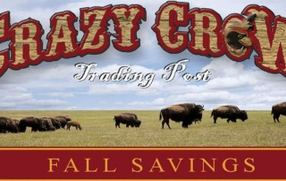 eNews Specials & Savings from Crazy Crow Trading Post: Sep 29 2017