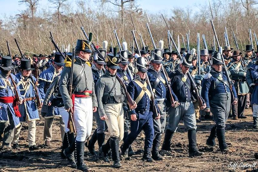Battle of New Orleans Reenactment - Chalmette Battlefield - Louisiana Living History Foundation