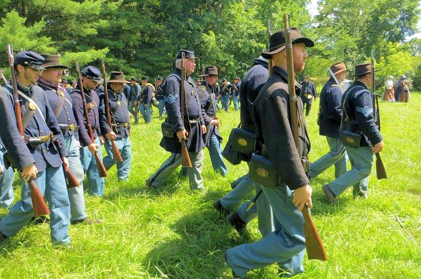 Lake County Forest Preserves Civil War Days in Wauconda - 10th Illinois Infantry Company H